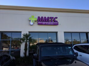 Jacksonville FL medical marijuana physician sign and entrance